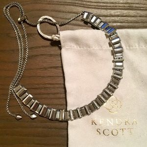 Kendra Scott Harper Choker Necklace in Hematite